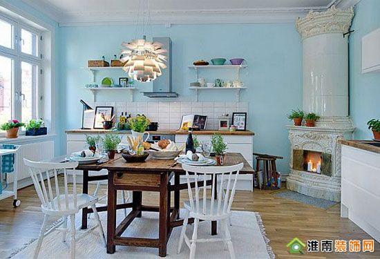 添加传统元素装饰之现代小户型公寓厨房篇