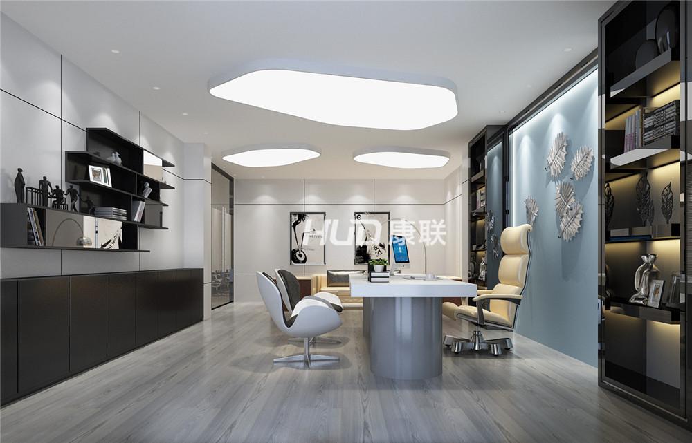 办公区设计平面布局中按部门或小部门分区,同一部门的人员一般集中在